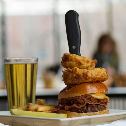 Burger and beer at FireFly - Traverse City, MI