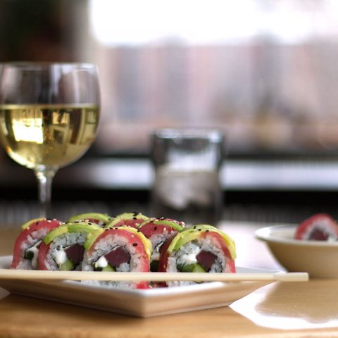 Pair our sushi with wine at FireFly!